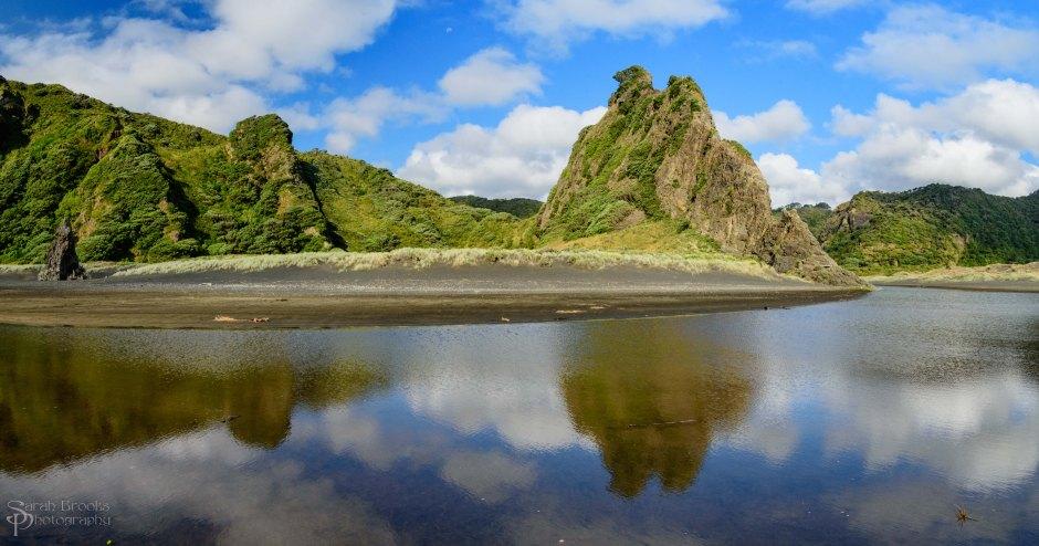 Karekare Cliffs -Reflections Series